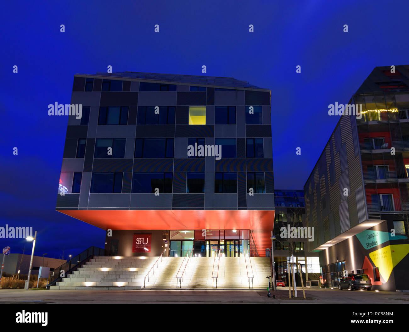 Wien, Vienna: Sigmund Freud University in 02. Leopoldstadt, Wien, Austria - Stock Image