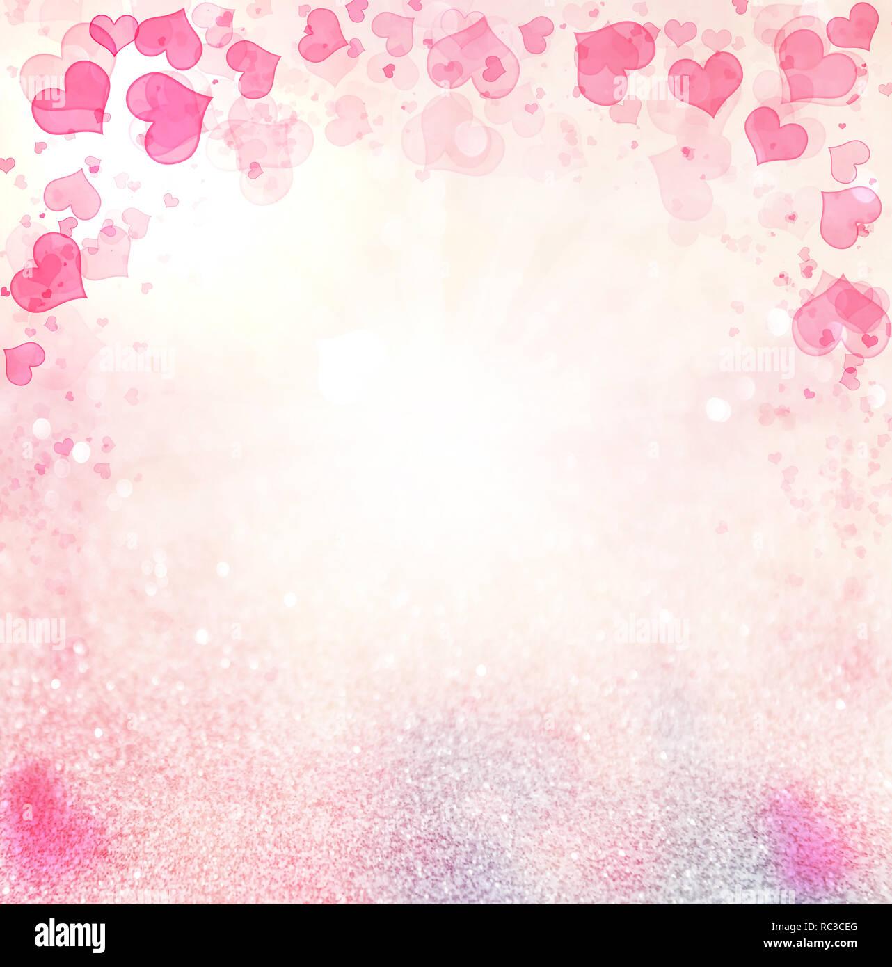 Valentine Hearts Abstract Pink Background Stvalentines