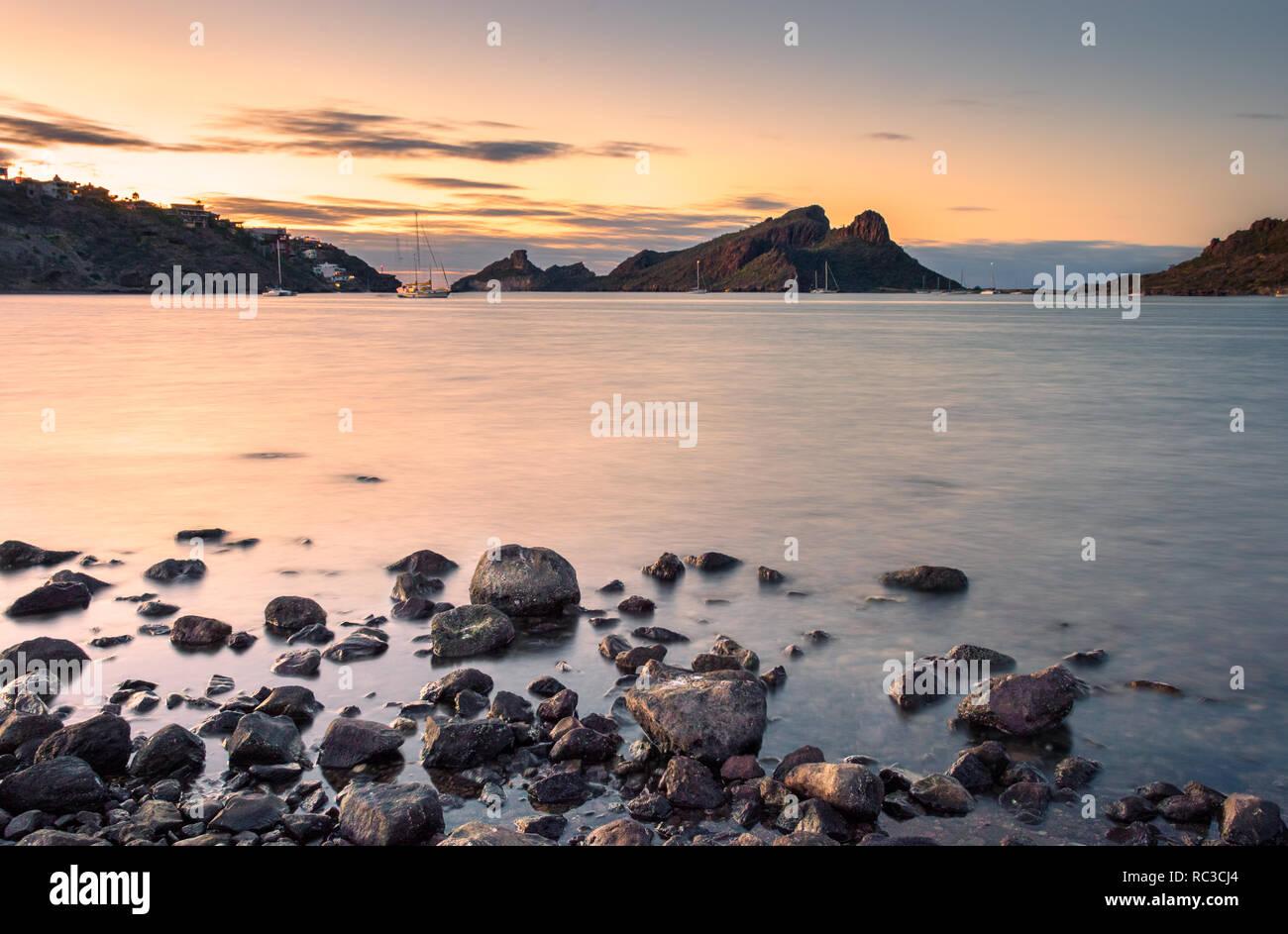 Amanacer en Marina San Carlos, Sonora / México - Stock Image