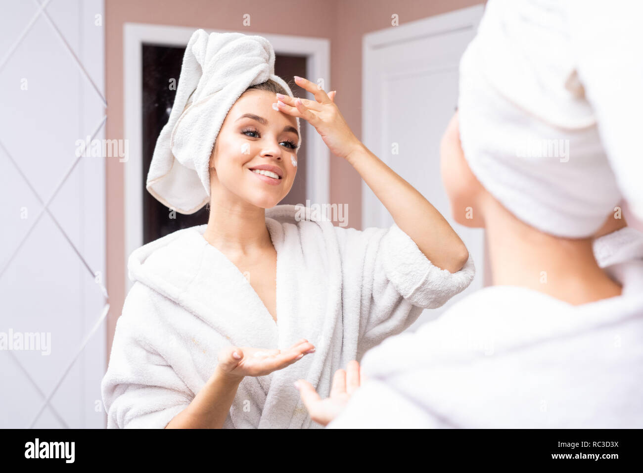 Facial Care for Young Women - Stock Image