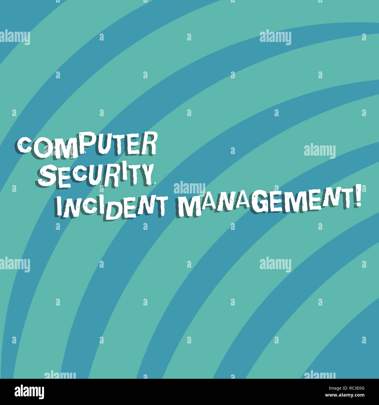 Text sign showing Computer Security Incident Management. Conceptual photo Safe cyber technology analysisaging Quarter Circle Halftone Blank Space for  - Stock Image