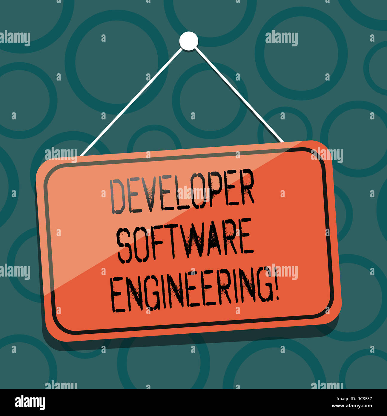 Writing Note Showing Developer Software Engineering Business Photo Showcasing Forming Software Base On Engineering Standard Blank Hanging Color Door Stock Photo Alamy