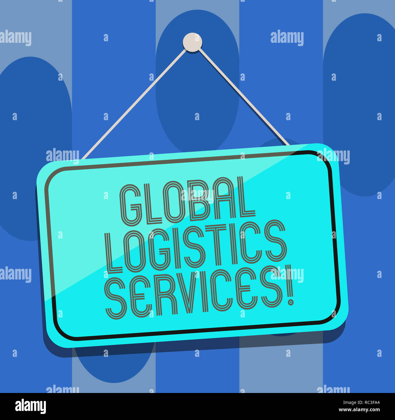 Handwriting text Global Logistics Services  Concept meaning Connects