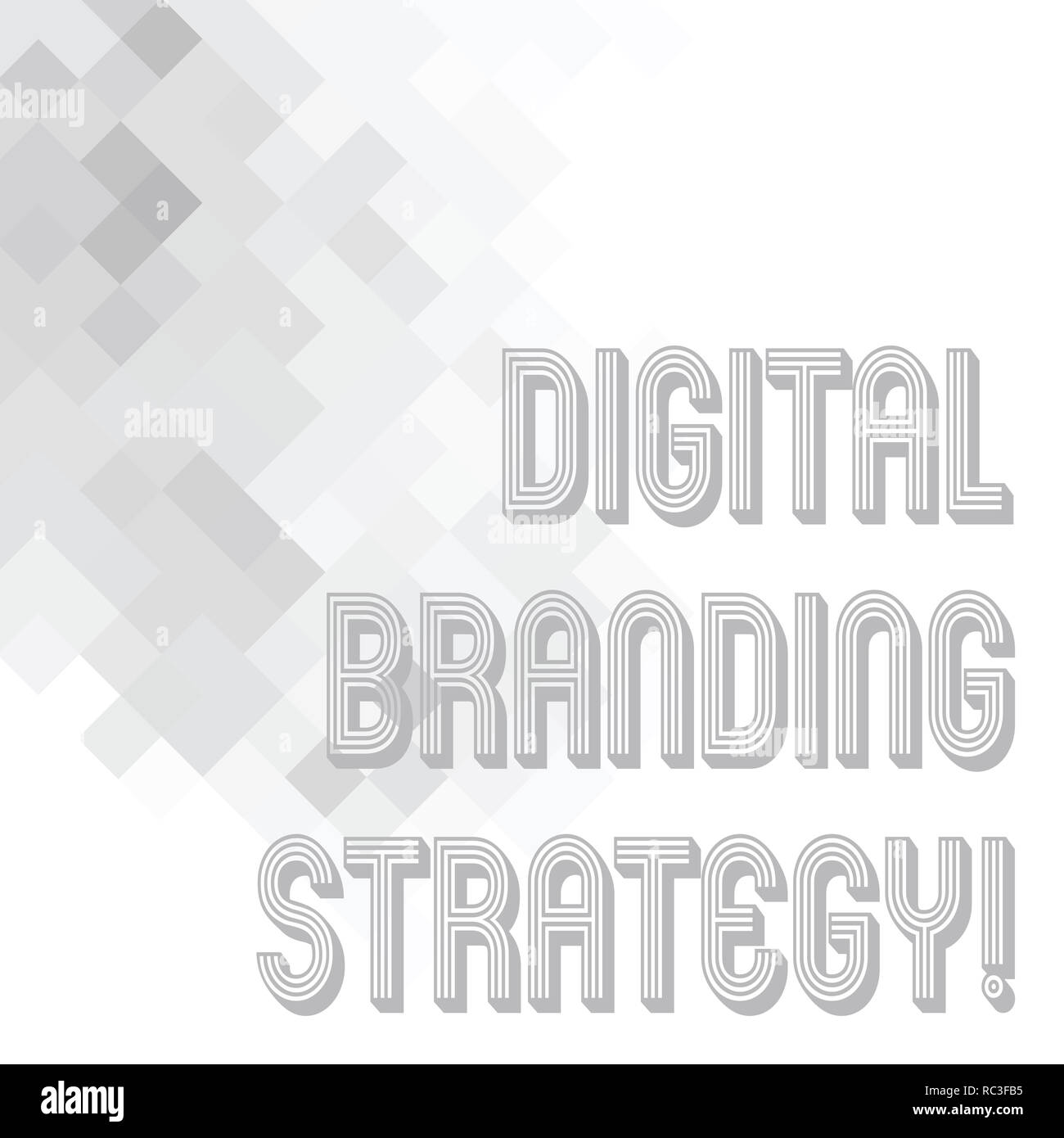 Conceptual hand writing showing Digital Branding Strategy