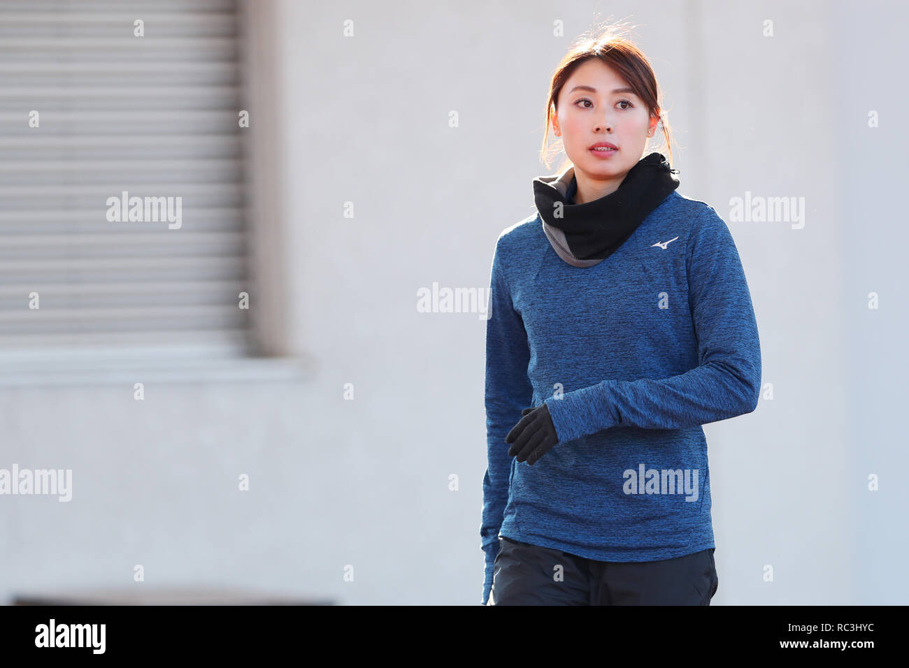 Tokyo, Japan. 13th Jan, 2019. Kana Ichikawa Athletics : JAAF women's relay sprinter selection at Ajinomoto national training cener athletis field in Tokyo, Japan . Credit: Yohei Osada/AFLO SPORT/Alamy Live News - Stock Image