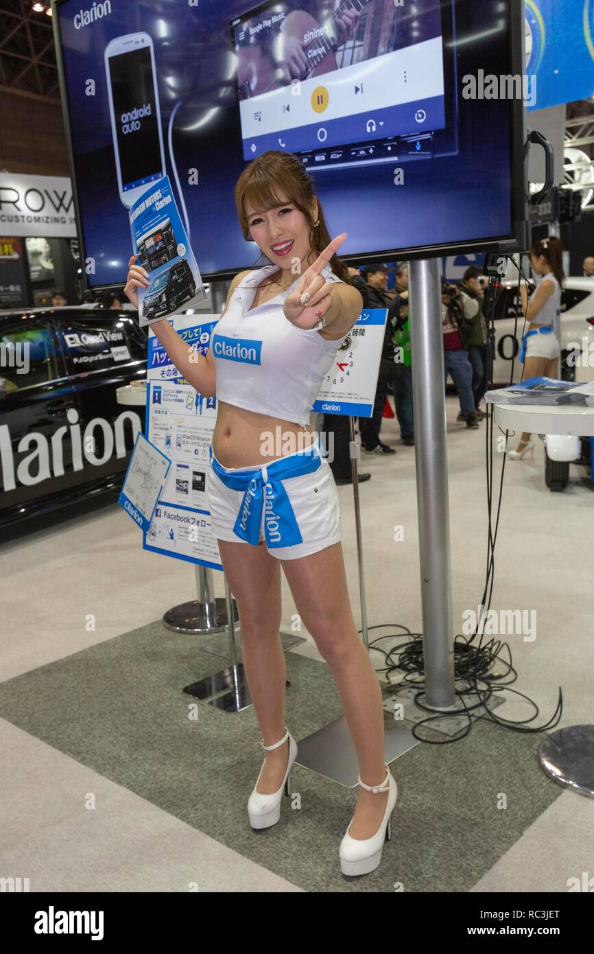 Exhibition Booth Assistant : Tokyo japan th janaury a booth assistant poses for a