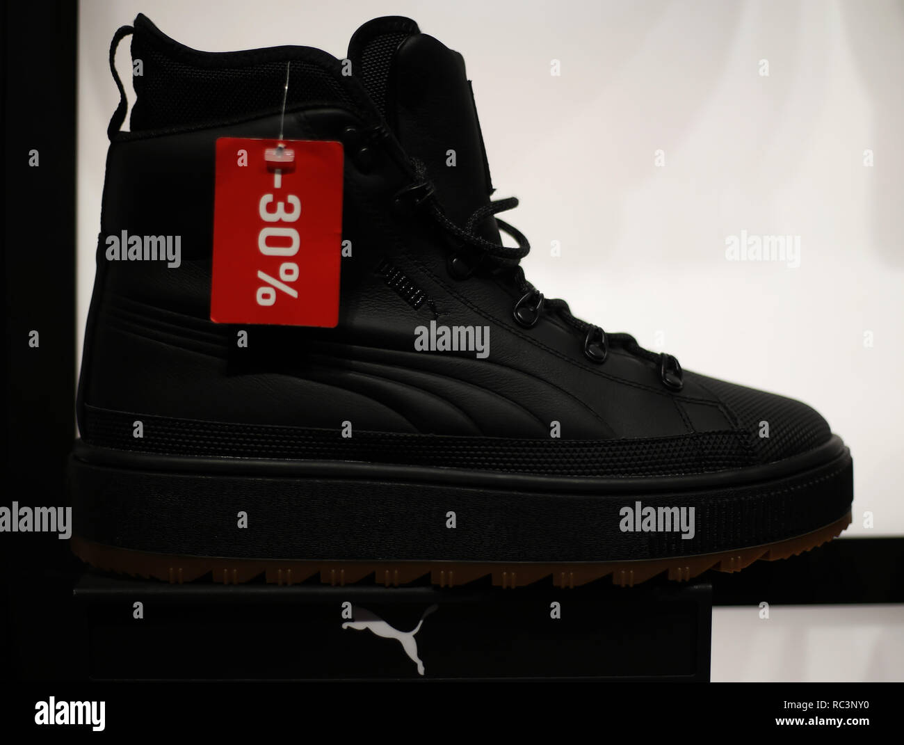 620c5385f927 Puma Shoes seen on sale in an Ocean Plaza mall shop. Credit  Mohammad Javad  Abjoushak SOPA Images ZUMA Wire Alamy Live News