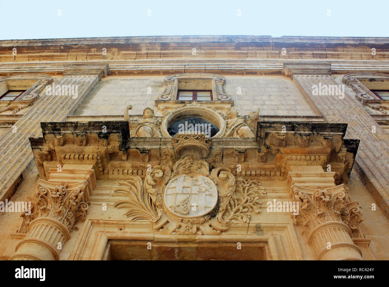 Vilhena Palace in Mdina, Malta, Museum of Natural History - Stock Image