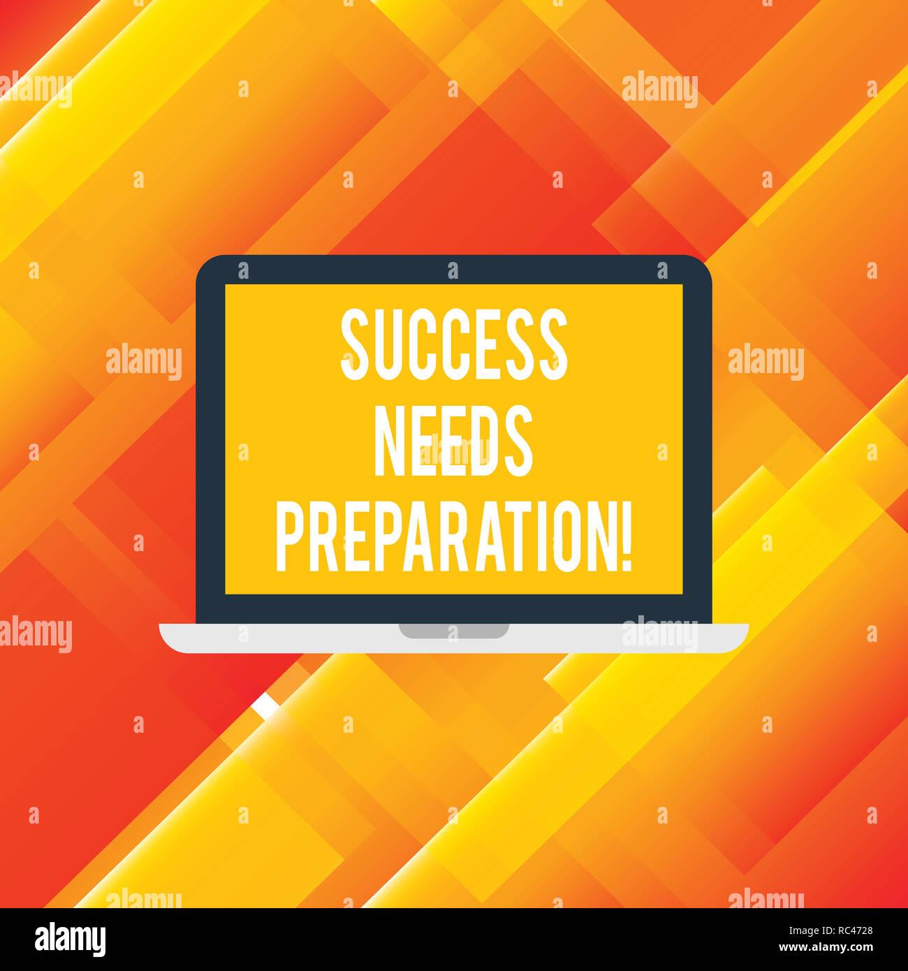 Handwriting Text Writing Success Needs Preparation Concept