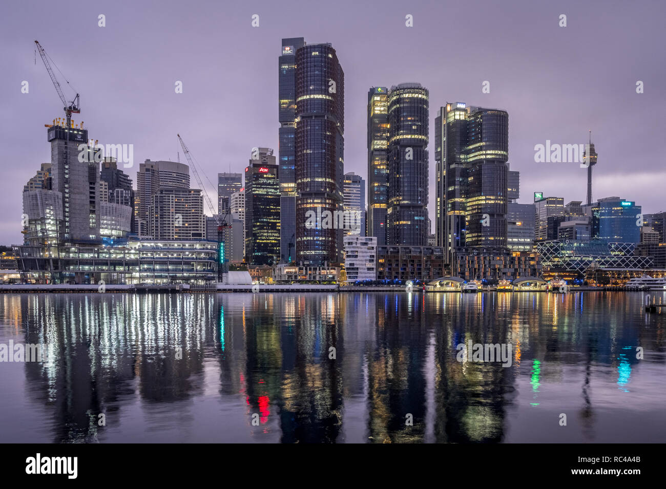 sydney city with clouds in the early morning Stock Photo
