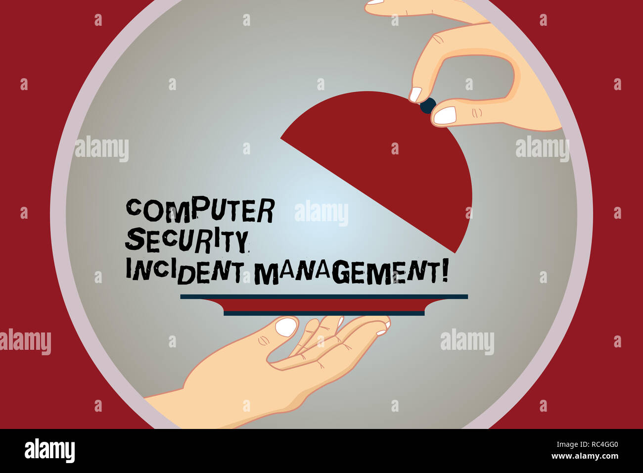 Conceptual hand writing showing Computer Security Incident Management. Business photo text Safe cyber technology analysisaging Hu analysis Hands Servi - Stock Image