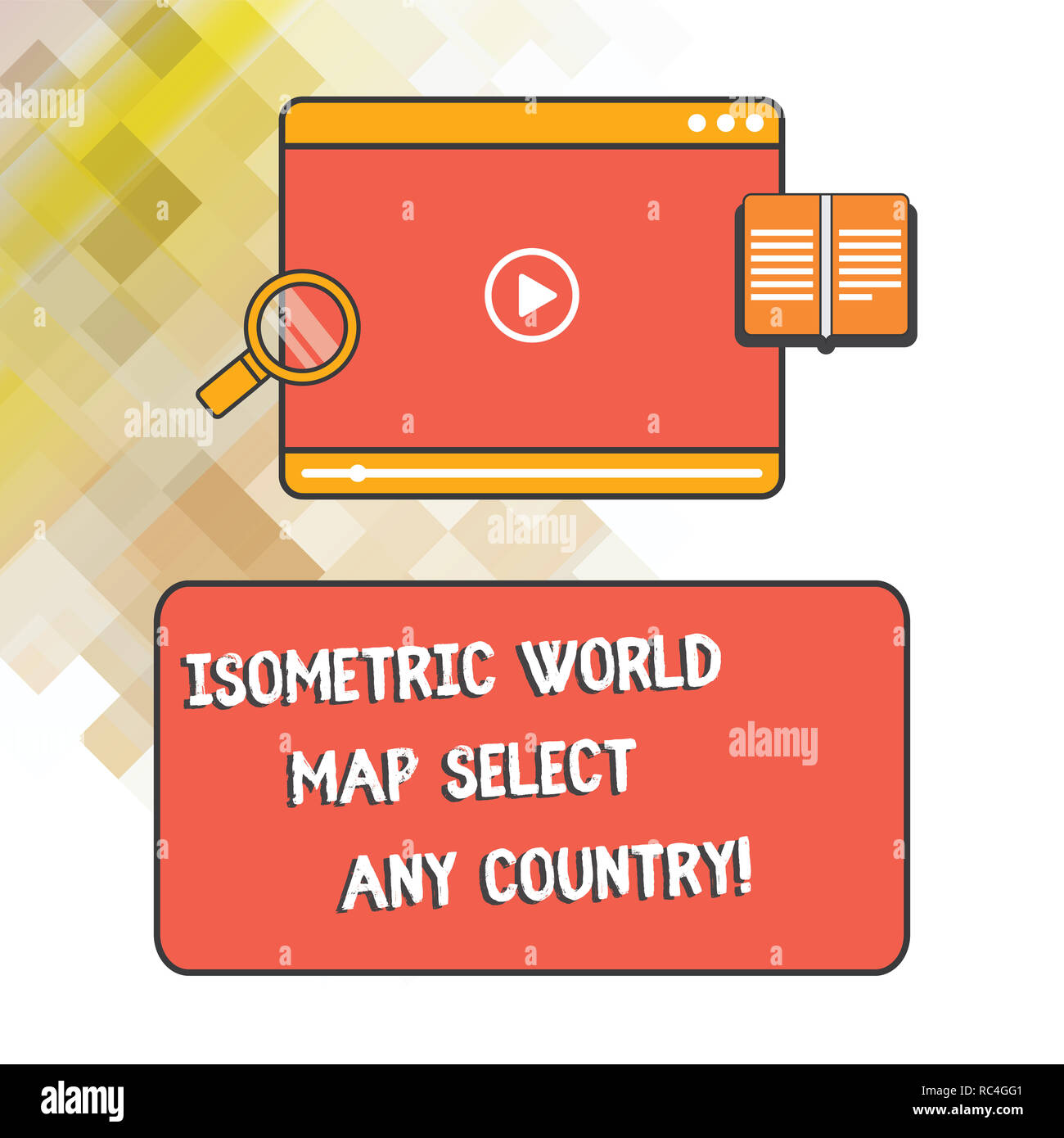 Word Writing Text Isometric World Map Select Any Country Business