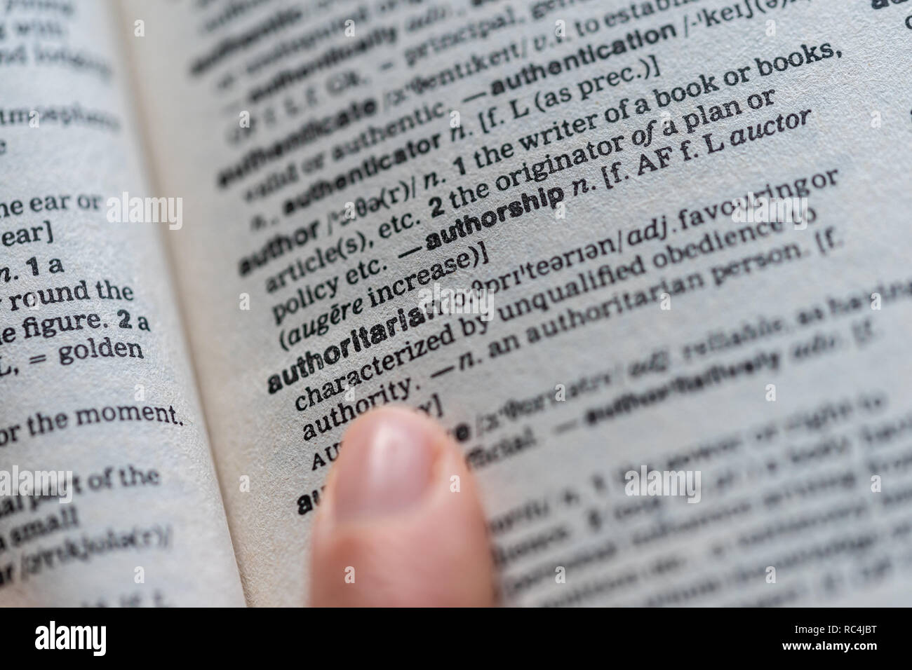 Thesaurus Page Stock Photos & Thesaurus Page Stock Images
