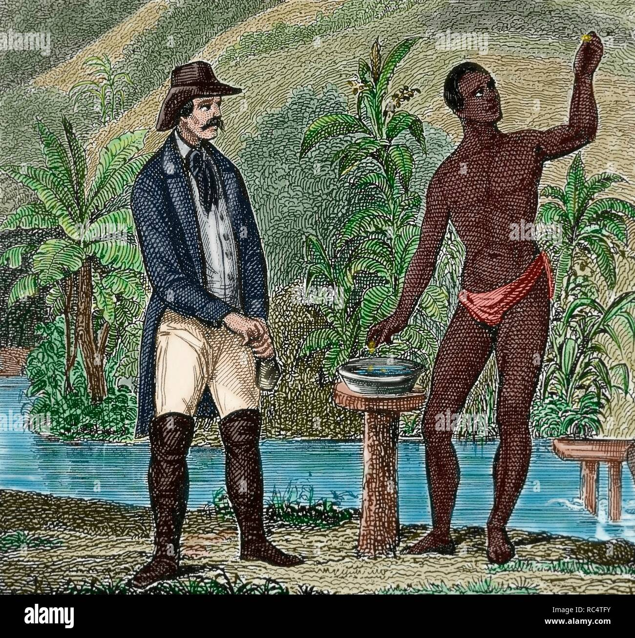 History of the Slavery  Foreman supervising the work of finding gold