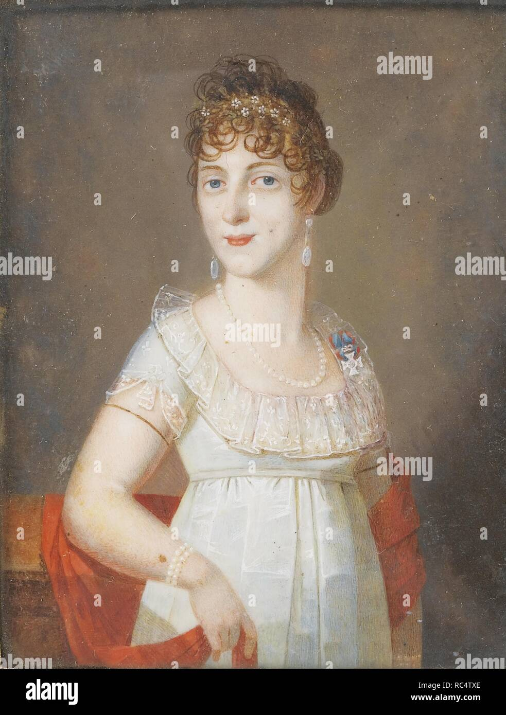Duchess Maria Elisabeth in Bavaria (1784-1849), Princess of Wagram. Museum: PRIVATE COLLECTION. Author: ANONYMOUS. - Stock Image