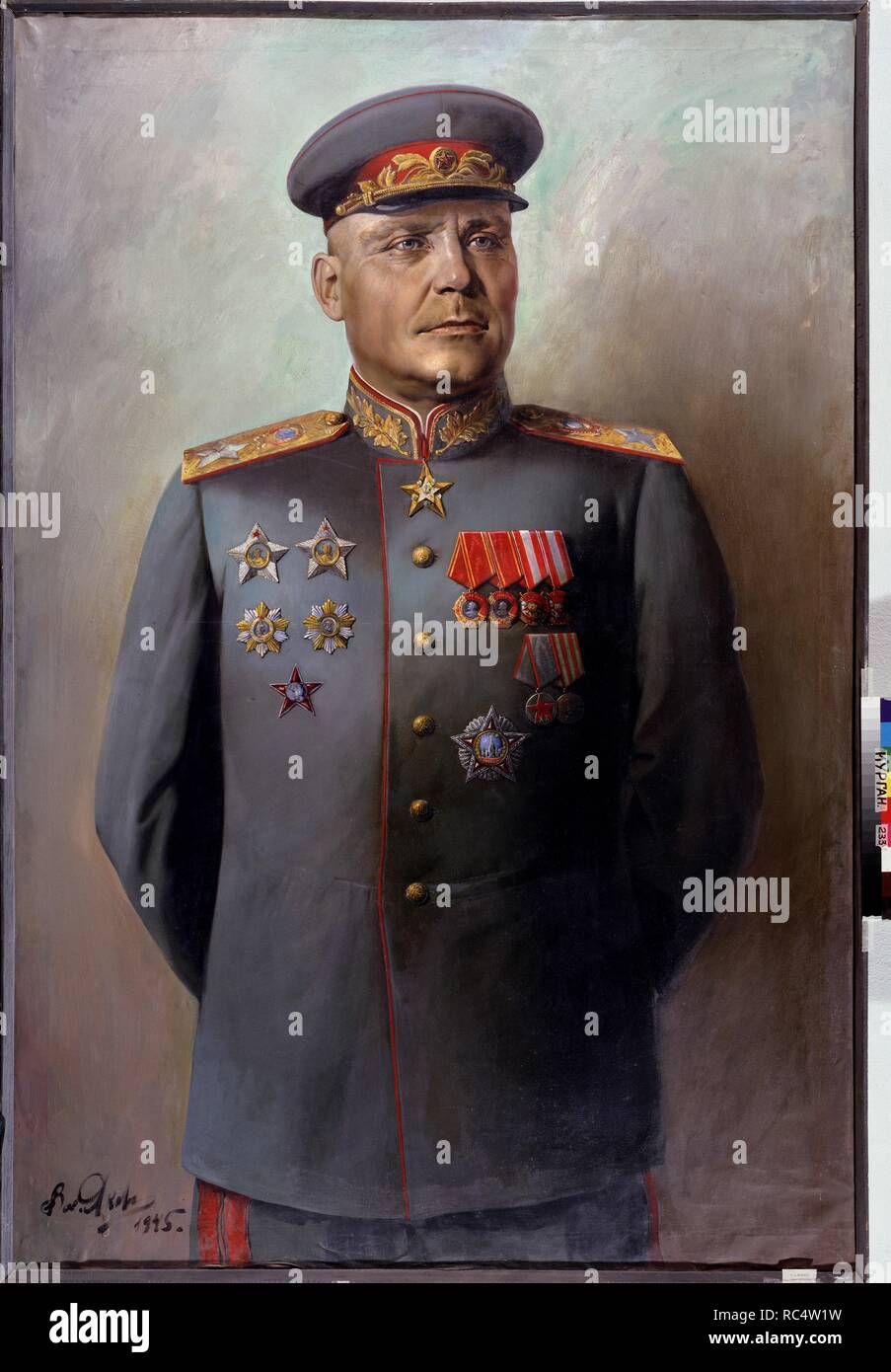 Portrait of the Marshal of Soviet Union Ivan Konev (1897-1973). Museum: Regional Art Museum, Kurgan. Author: Yakovlev, Vasili Nikolayevich. Copyright: This artwork is not in public domain. It is your responsibility to obtain all necessary third party permissions from the copyright handler in your country prior to publication. - Stock Image