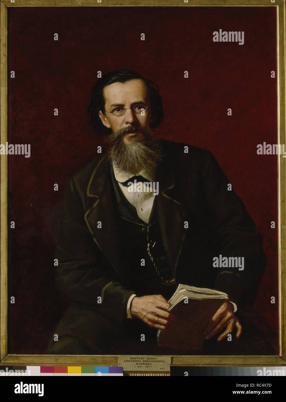 Portrait of the poet Apollon Maykov (1821-1897). Museum: State Tretyakov Gallery, Moscow. Author: Perov, Vasili Grigoryevich. - Stock Image
