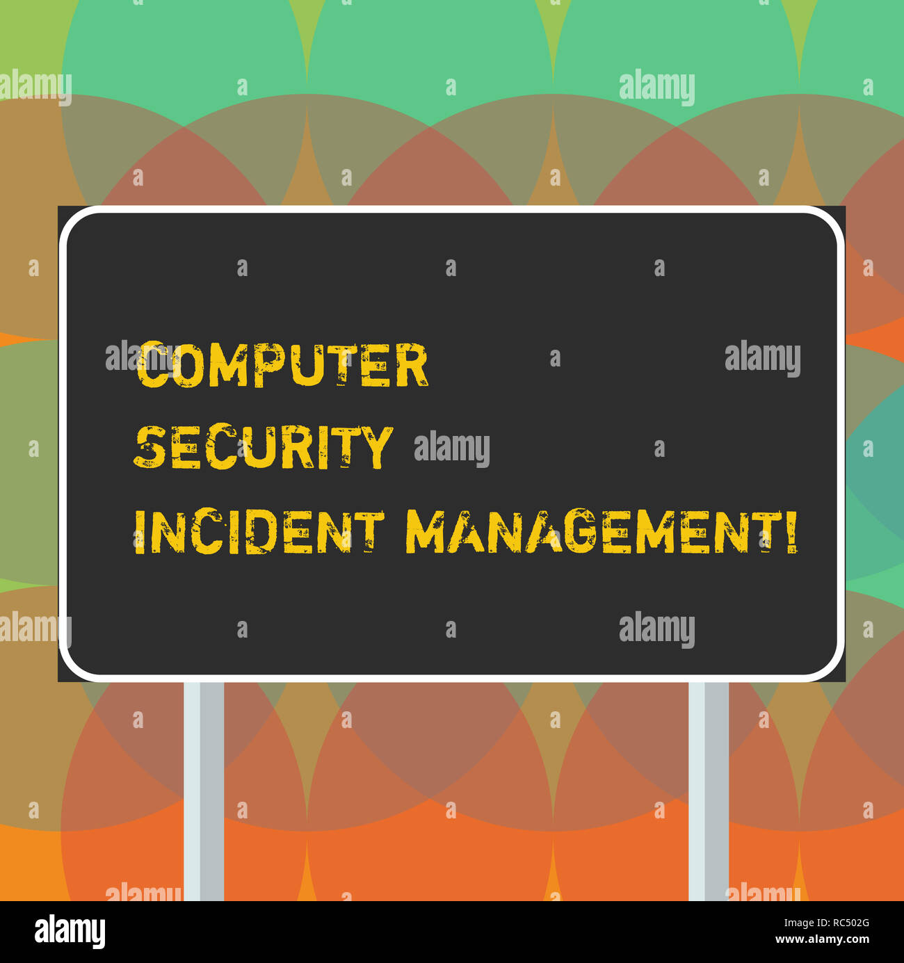 Word writing text Computer Security Incident Management. Business concept for Safe cyber technology analysisaging Blank Rectangular Outdoor Color Sign Stock Photo