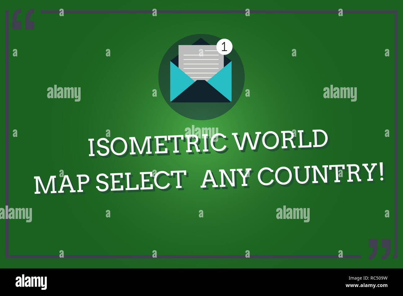 Word writing text Isometric World Map Select Any Country