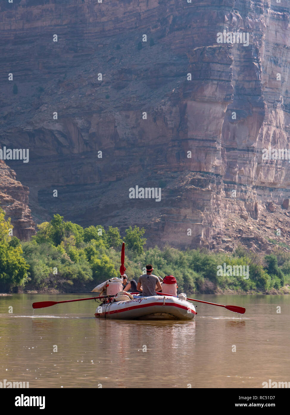 Floating the river, upper Desolation Canyon north of Green River, Utah. - Stock Image