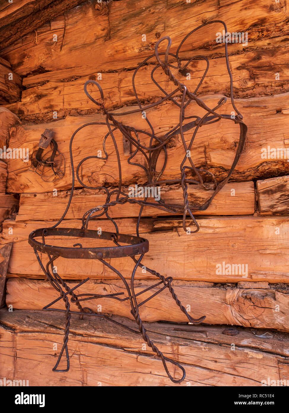 Rock Creek Ranch, Desolation Canyon north of Green River, Utah. - Stock Image