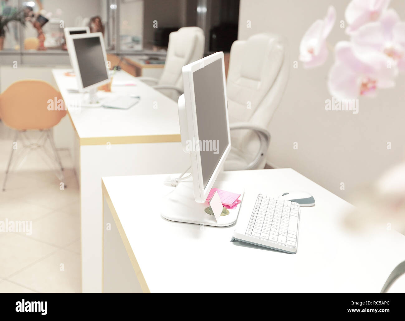 modern office travel Agency.photo with copy space - Stock Image