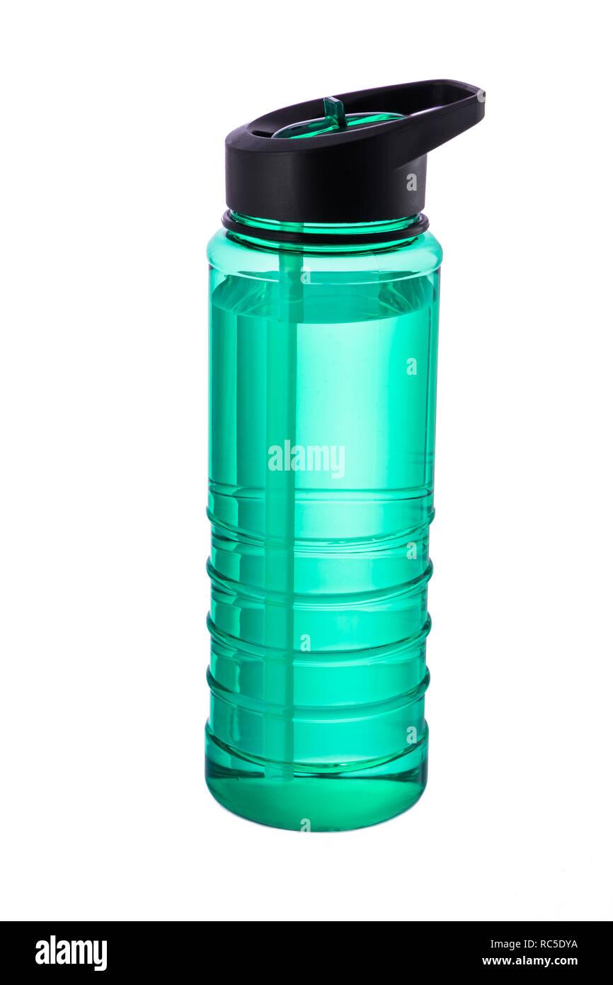 Water bottle isolated on white . - Stock Image