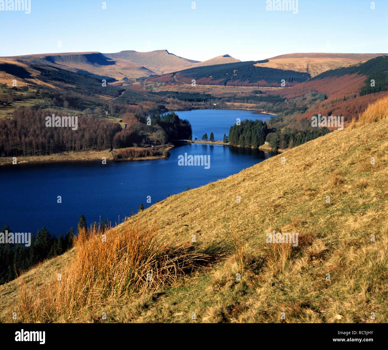 Taf Fechan Reservoirs, Brecon Beacons National Park, Powys, Wales, UK. Stock Photo