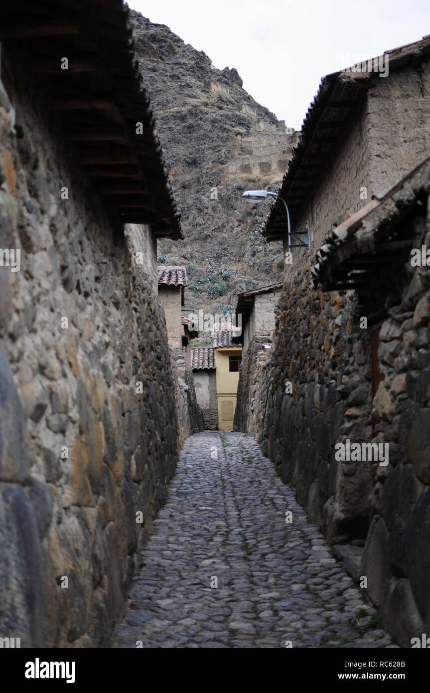 A small town in the area of Cusco, Peru. - Stock Image