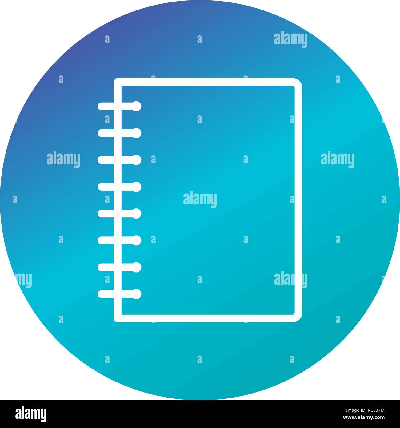 Vector Spiral Notebook Icon Stock Vector Art & Illustration, Vector