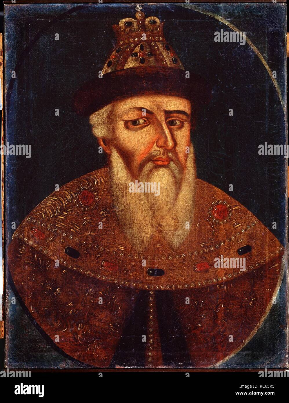 Portrait of the Tsar Ivan IV the Terrible (1530-1584). Museum: State Art Museum, Nizhny Tagil. Author: ANONYMOUS. - Stock Image