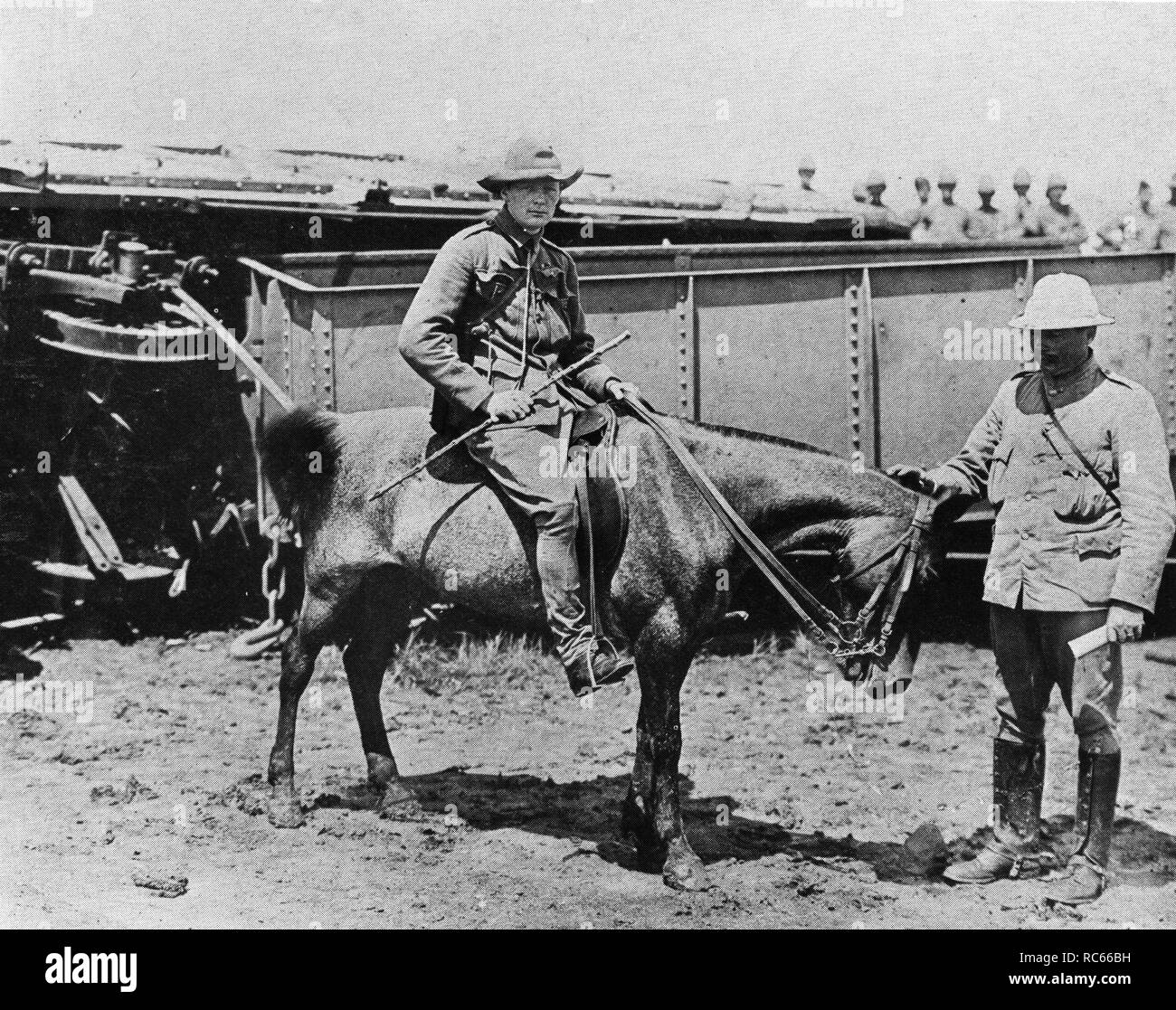 Winston Churchill in South Africa during the Boer War - Stock Image