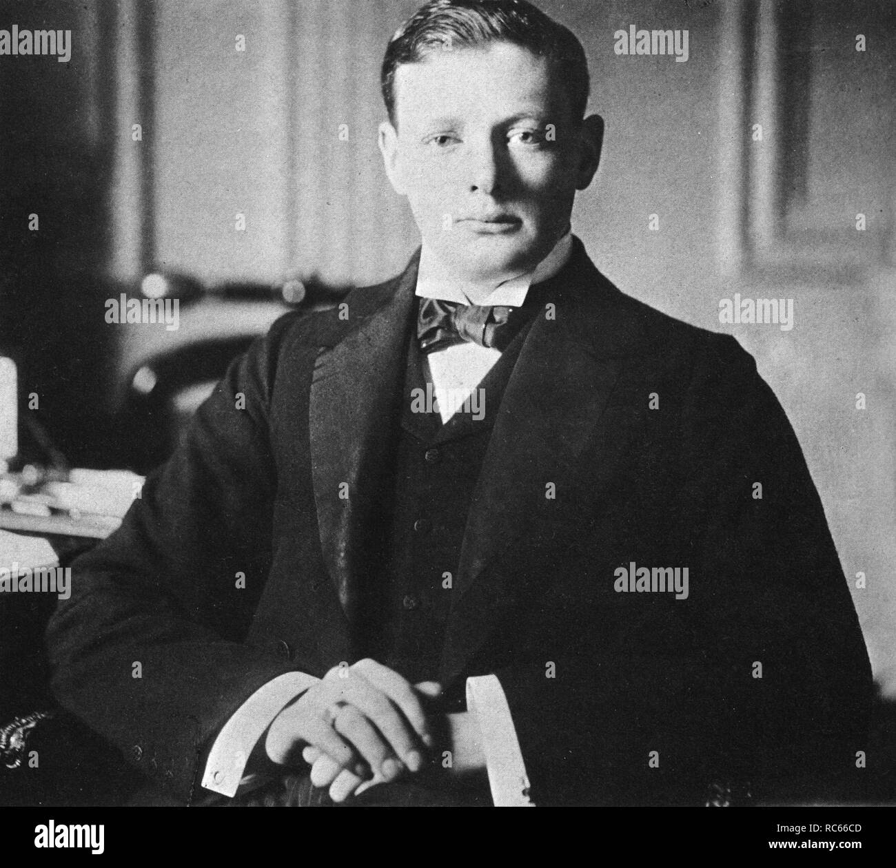 Winston Churchill, Conservative M.P. for Oldham, 1901 - Stock Image