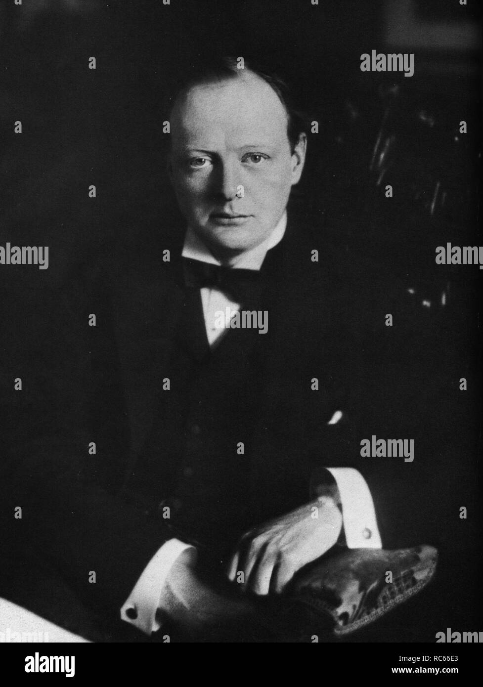 Portrait photograph of Winston Churchill taken in 1908 Stock Photo
