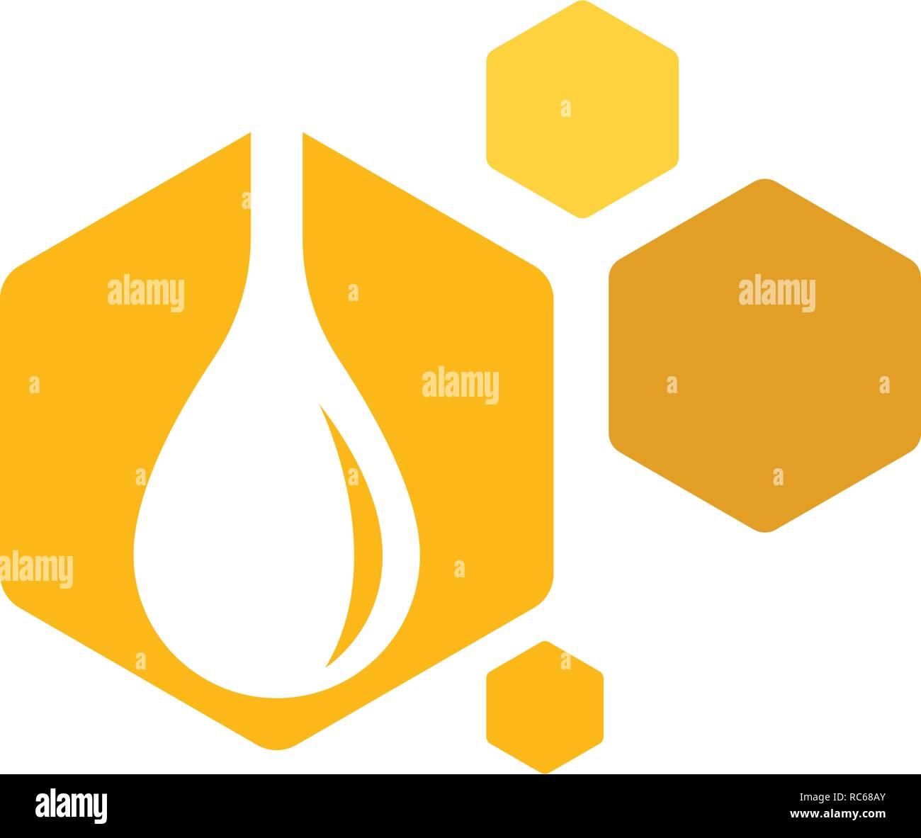 Bee Logo Template vector icon illustration design - Stock Vector