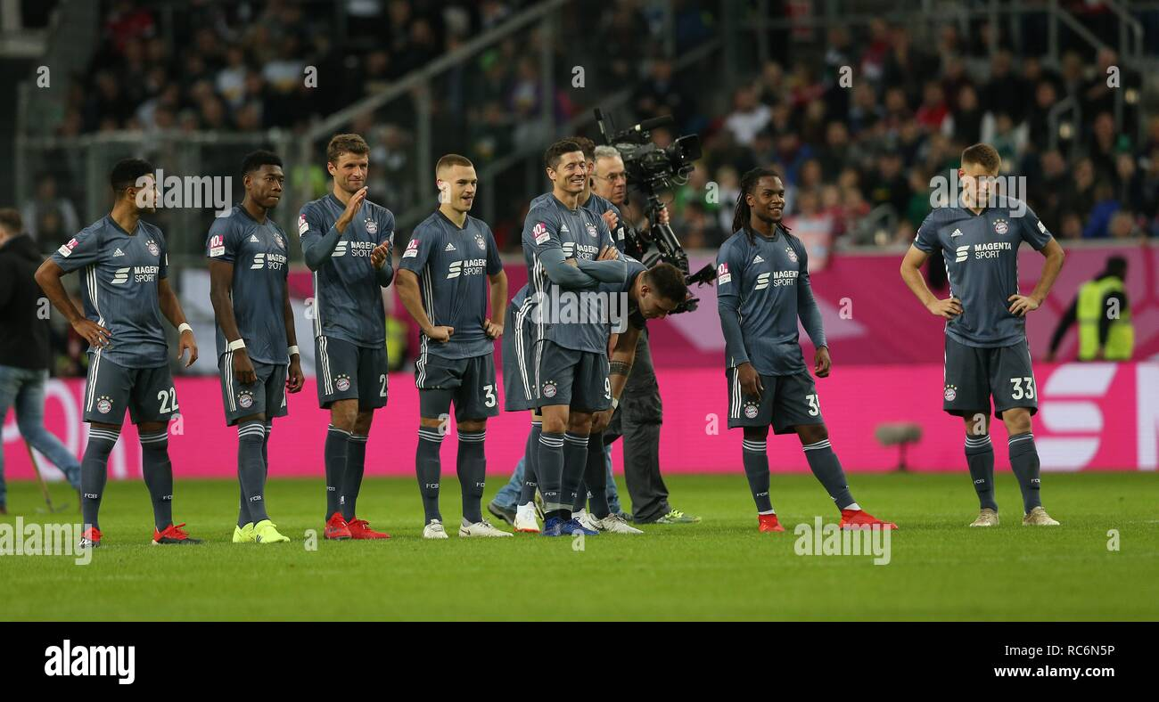 firo: 13.01.2019, football, 1.Bundesliga, season 2018/2019, Telekom-Cup 2019, FC Bayern Munich, team, team on penalties   usage worldwide - Stock Image