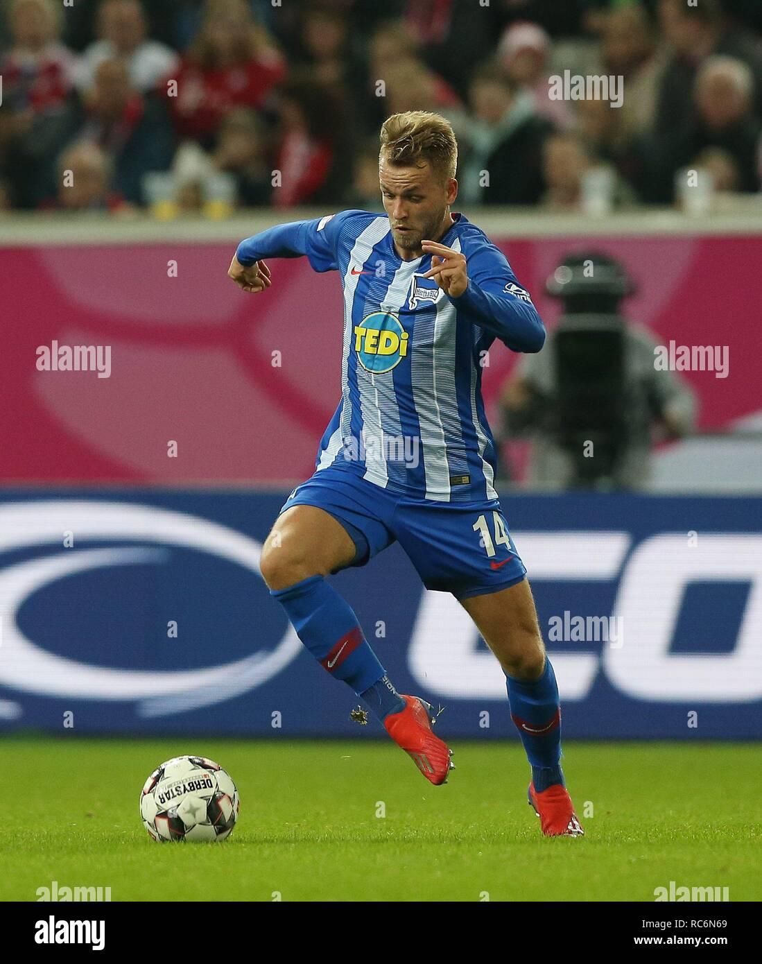 firo: 13.01.2019, football, 1.Bundesliga, season 2018/2019, Telekom-Cup 2019, Hertha BSC Berlin, Pascal KOPKE,   usage worldwide - Stock Image