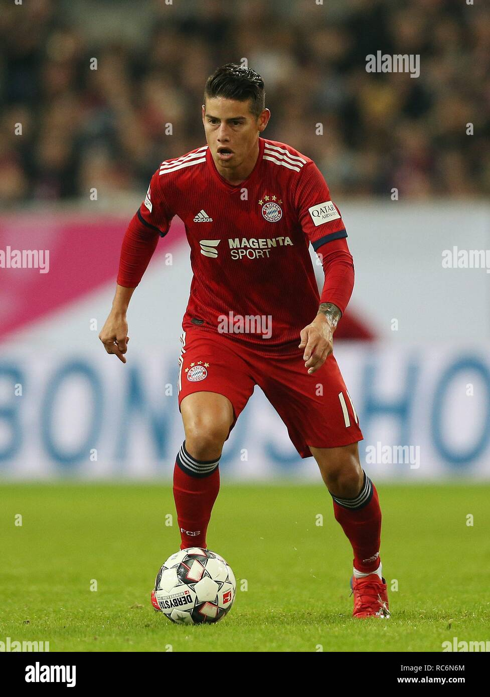 firo: 13.01.2019, football, 1.Bundesliga, season 2018/2019, Telekom-Cup 2019, FC Bayern Munich, JAMES Rodriguez, single action   usage worldwide - Stock Image