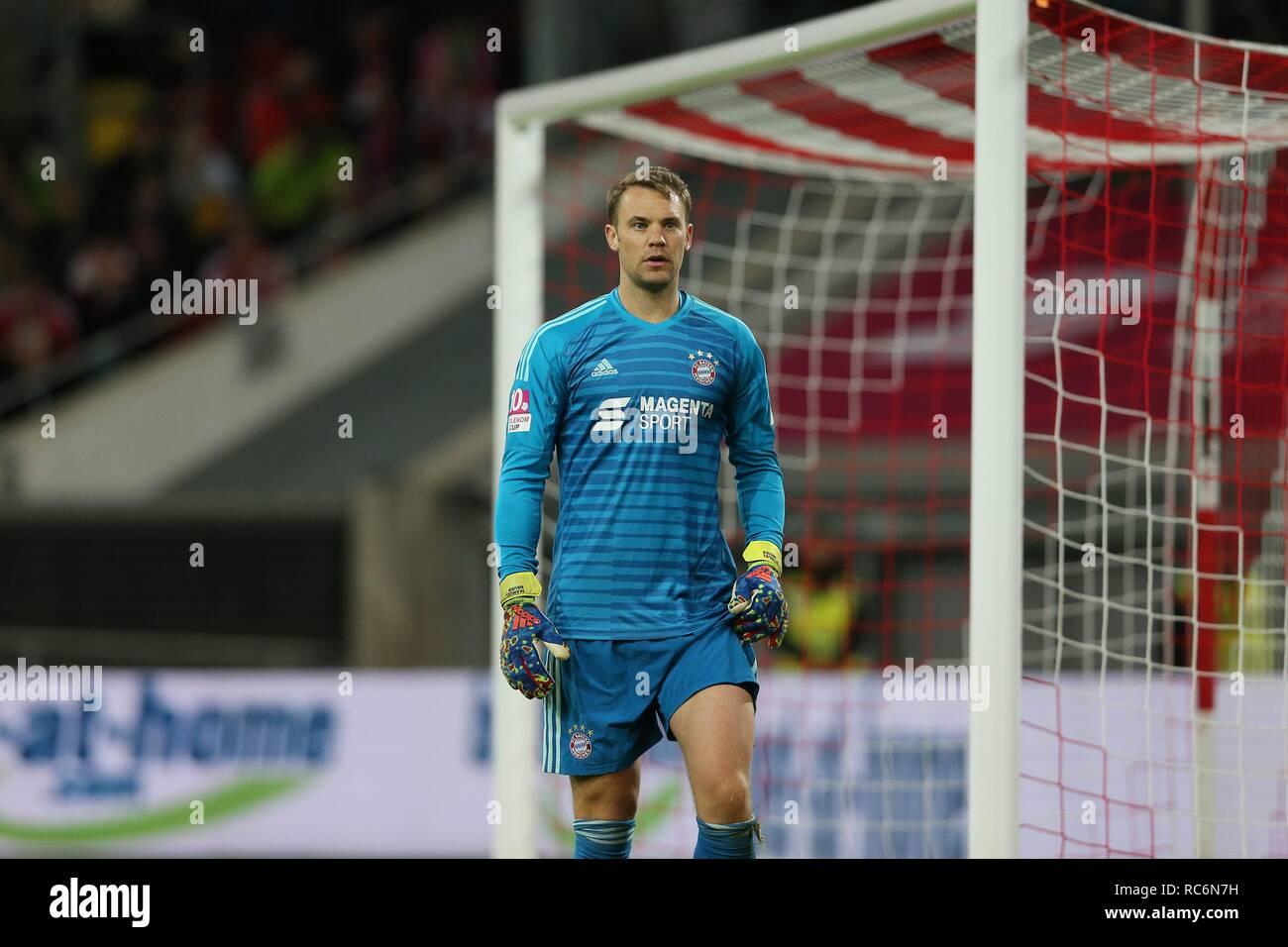 firo: 13.01.2019, football, 1.Bundesliga, season 2018/2019, Telekom-Cup 2019, Bayern Munich goalkeeper Manuel NEUER, half figure   usage worldwide - Stock Image