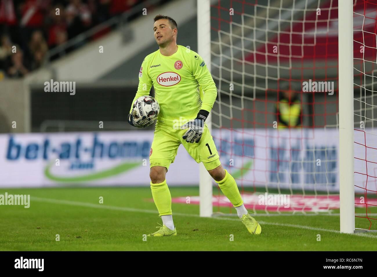 firo: 13.01.2019, football, 1.Bundesliga, season 2018/2019, Telekom-Cup 2019, Fortuna Dusseldorf, goalkeeper Michael RENSING, single action   usage worldwide - Stock Image