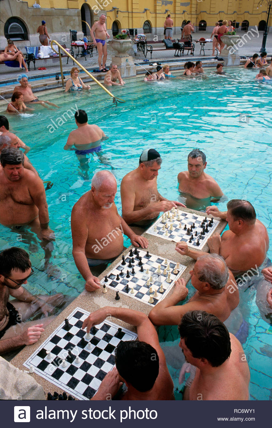 szechenyi thermal bath, varosliget park, budapest - Stock Image