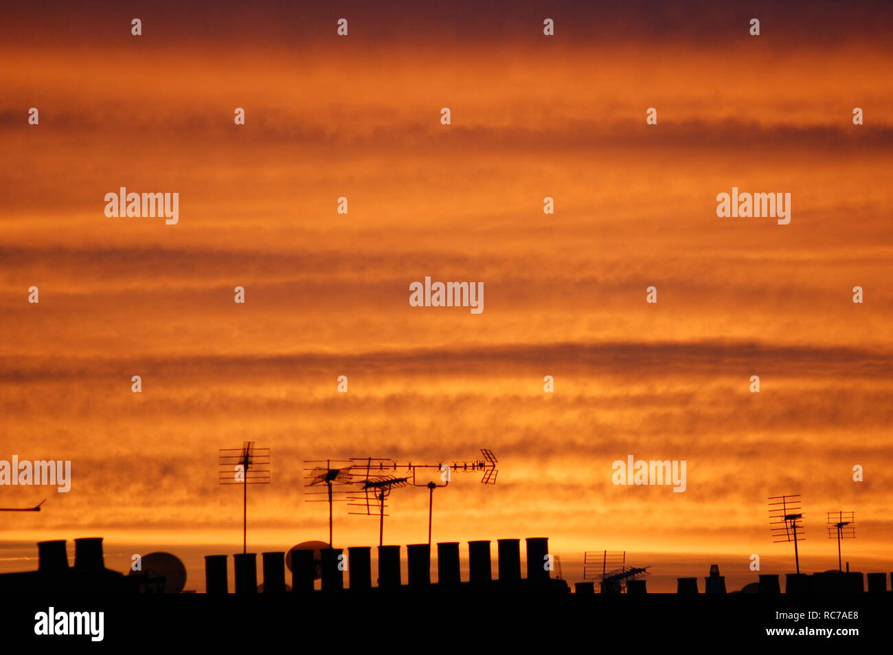 London Dusk Skyscape - Stock Image