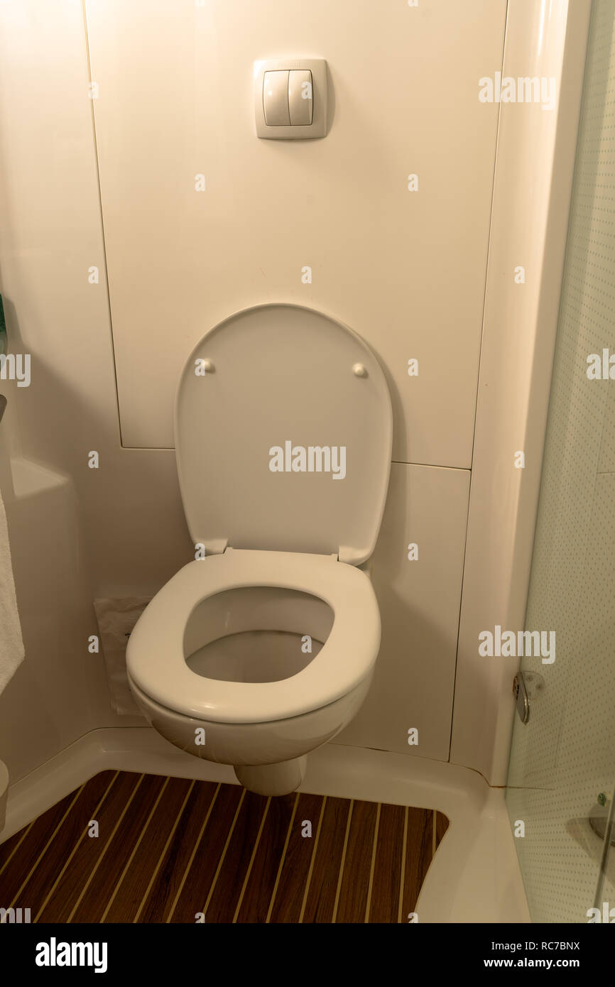 Interior Of A Bathroom In A Room Of The Ibis Budget Hotel In Barcelona Before Etap Ibis Spain Stock Photo Alamy