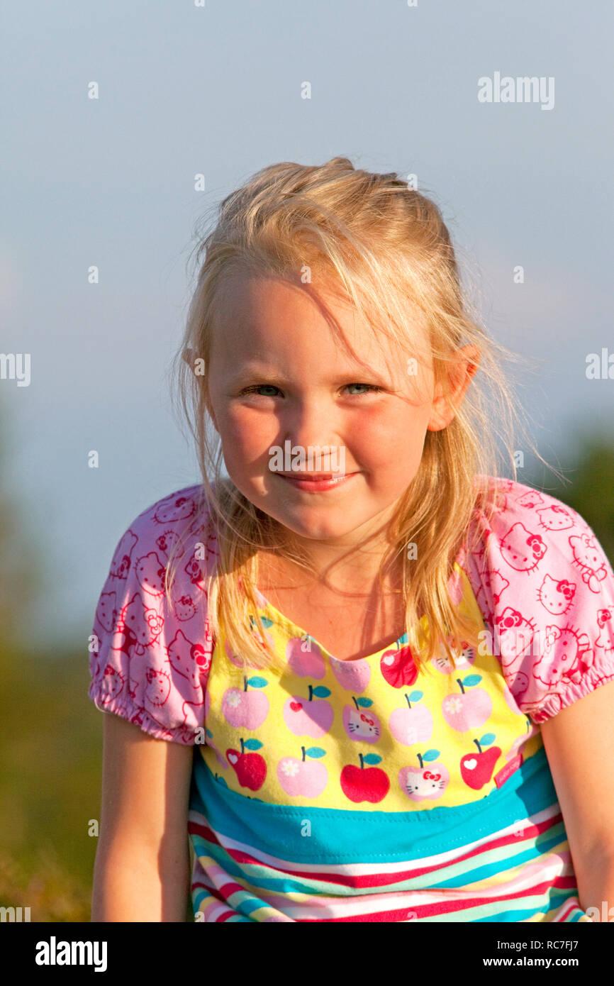 Portrait of blond girl Stock Photo