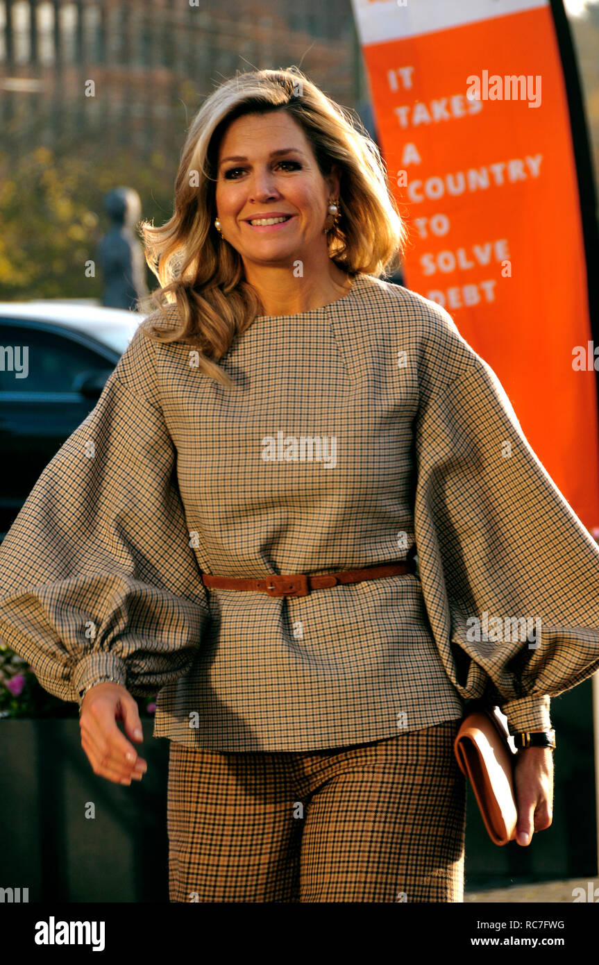 Madurodam, The Hague, The Netherlands. 14th November, 2018. H.R.H. Queen Máxima of The Netherland, attends the launch of Dept Lad NL. The Dept Lad NL  - Stock Image