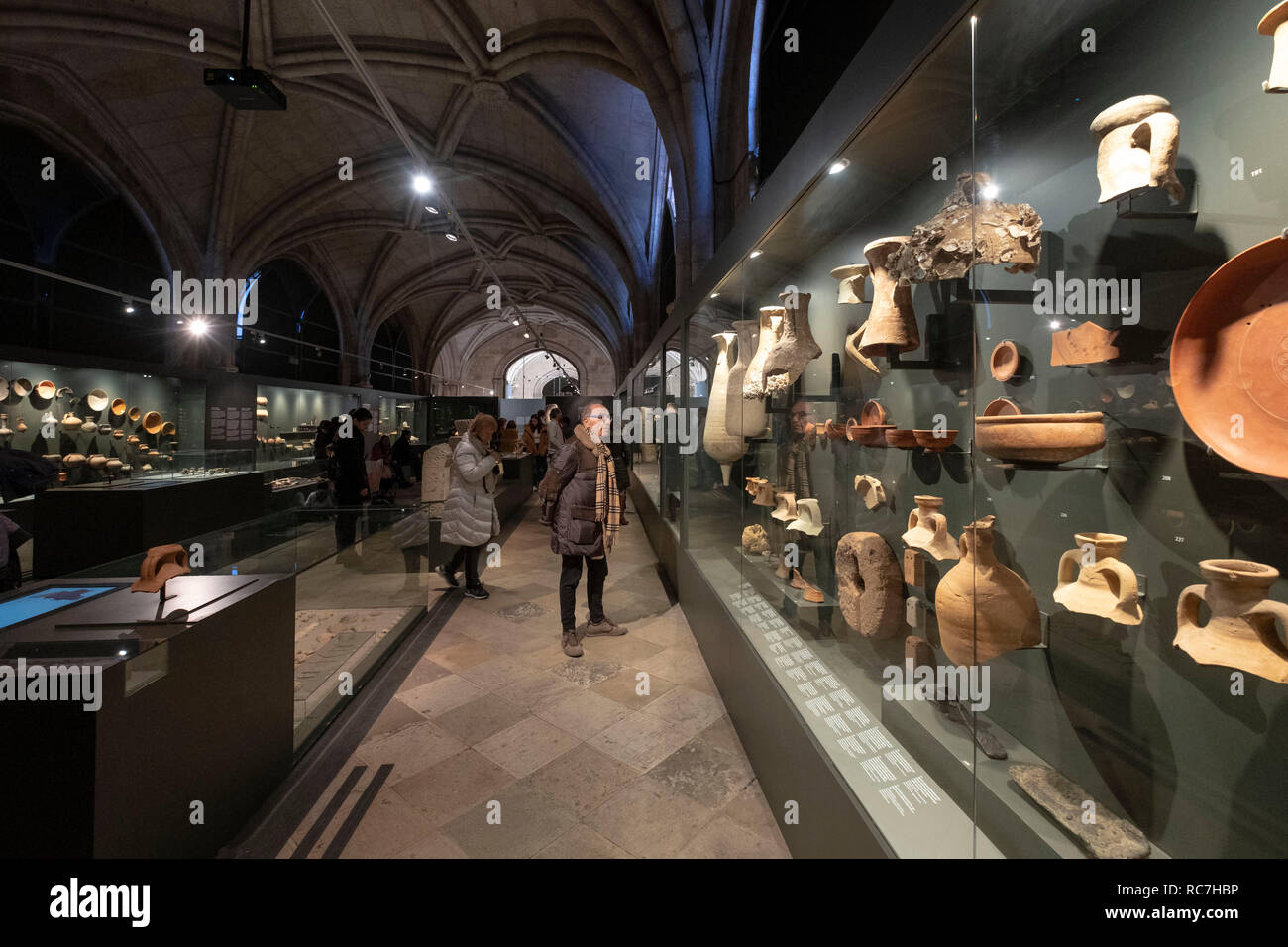 National Archaeology Museum in Lisbon, Portugal, Europe - Stock Image