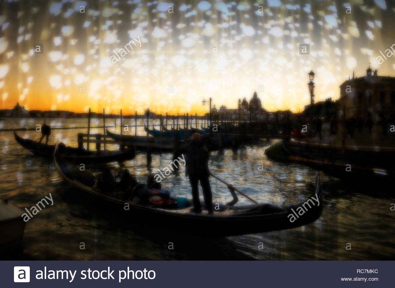 Atmospheric mood in Venice, Italy. - Stock Image