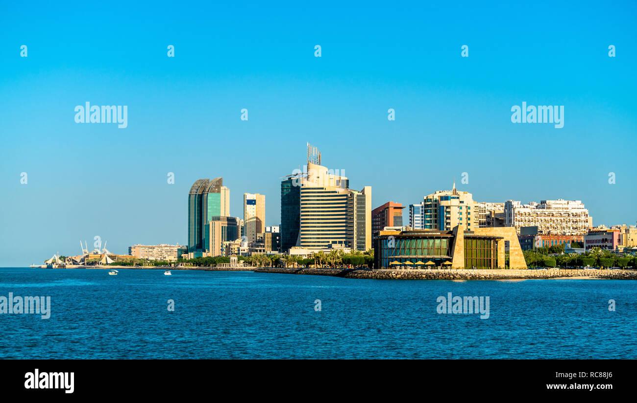 Skyline of Salmiya in Kuwait - Stock Image
