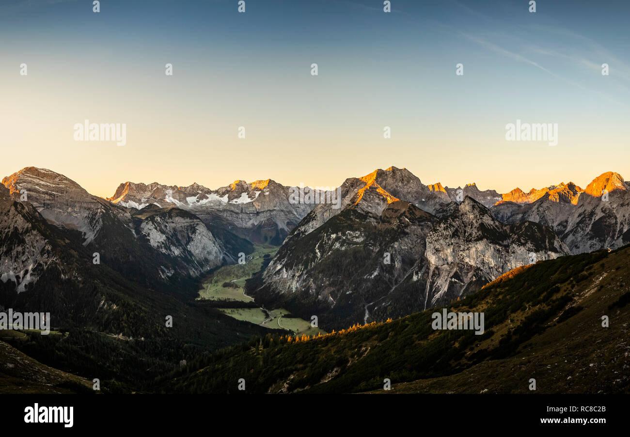 View of Karwendel region, Hinterriss, Tirol, Austria - Stock Image