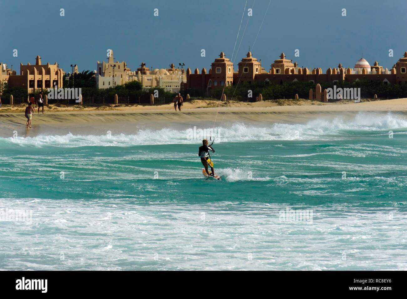 Beach at the RIU Hotel, Sal, Cape Verde, Africa Stock Photo